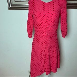 Zara trf pink polka dot dress